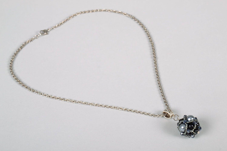 Pendant made of Czech beads photo 4