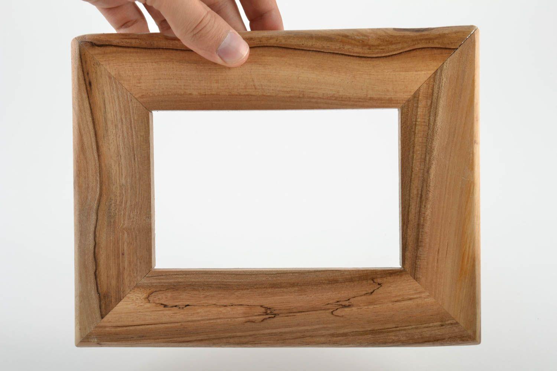 Madeheart marco de madera artesanal para fotos barnizado bonito ecol gico original - Marcos de fotos madera ...
