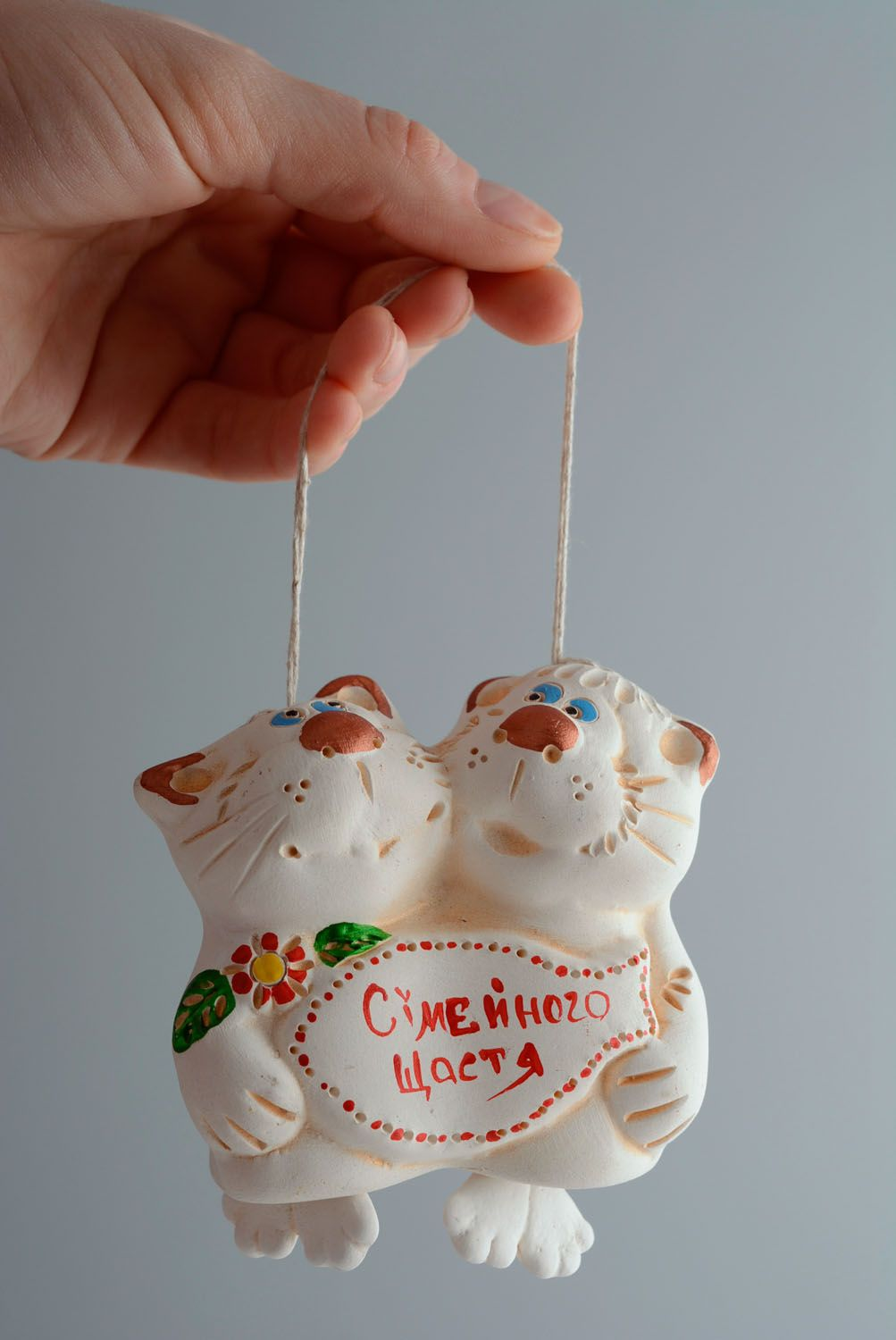 Lovely ceramic bell Cats photo 4