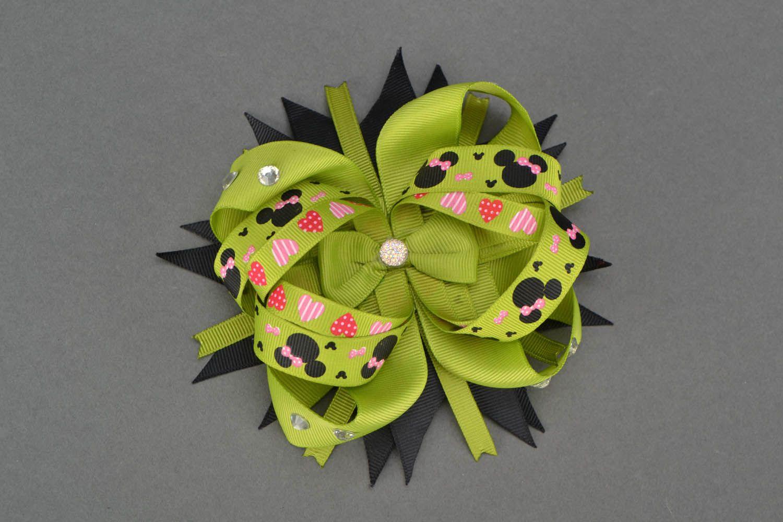 Hair clip made of ribbons photo 1