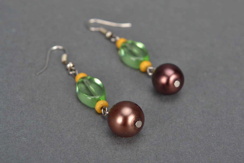 Homemade beaded earrings photo 3