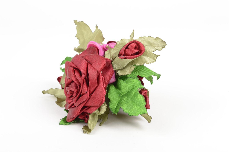 Handmade designer accessory elegant flower hair clip feminine cute hair clip photo 4