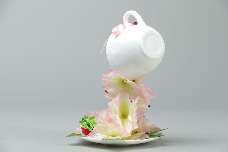 Handmade flower cup photo 3