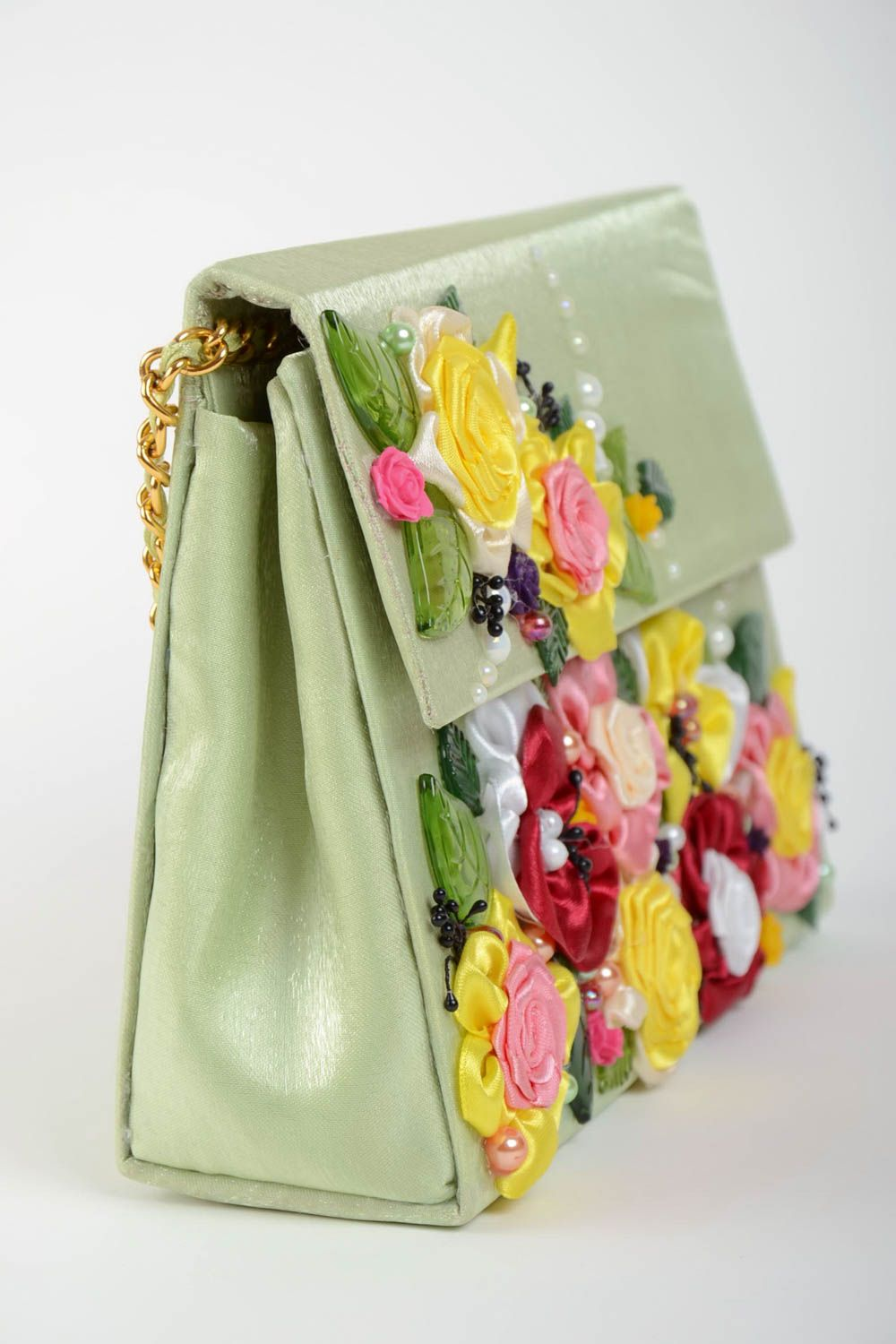 women s handbags Beautiful handmade designer women s fabric bag with  applique flowers - MADEheart.com