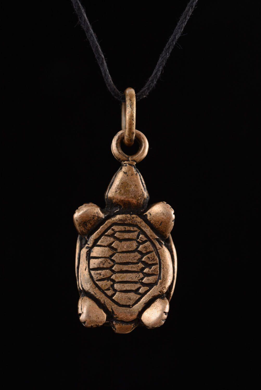 Bronze pendant Turtle photo 2