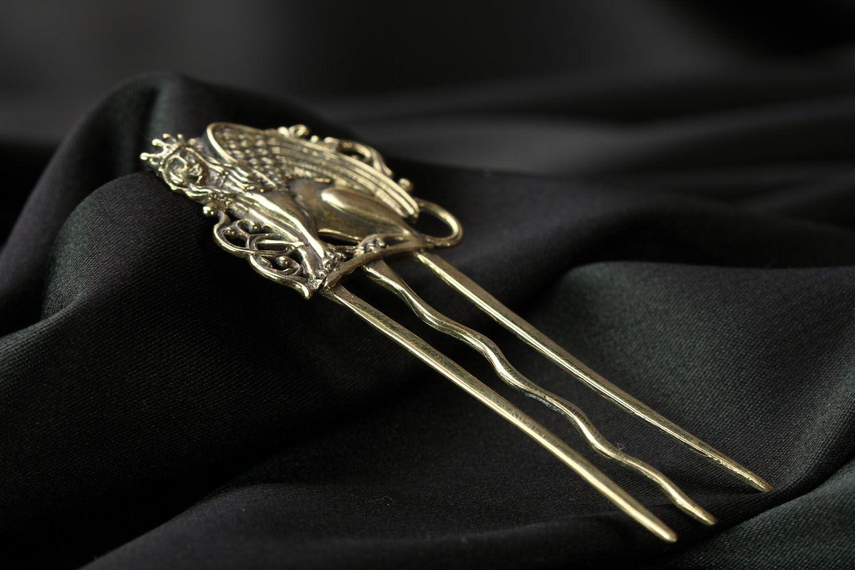 Гребешок для волос из бронзы  фото 3