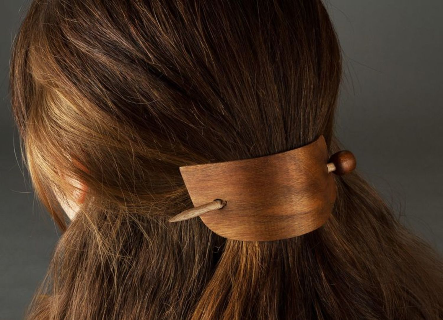Wooden hairpin photo 2