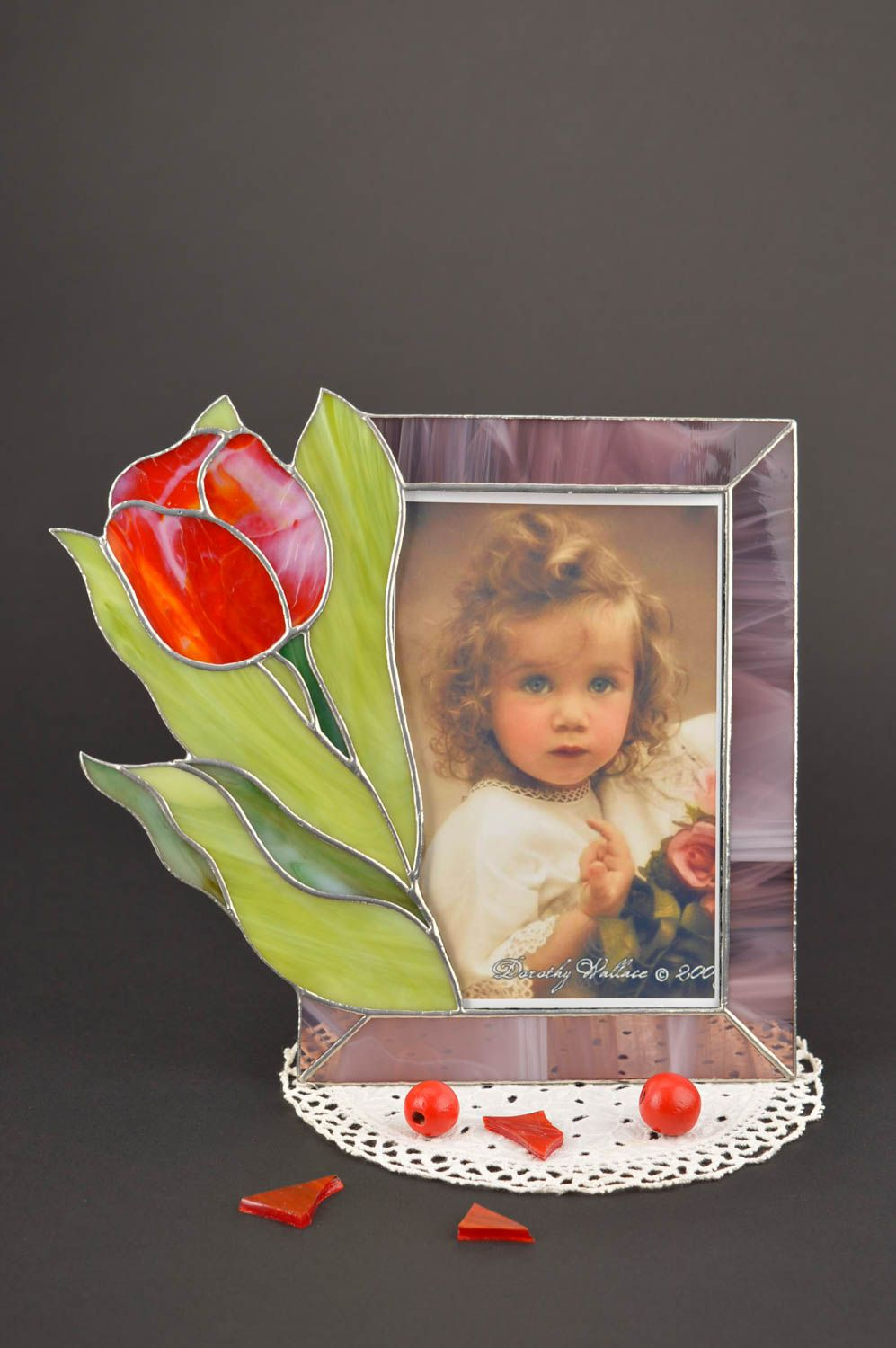 Unusual handmade photo frame glass art frame for photo home decoration photo 1