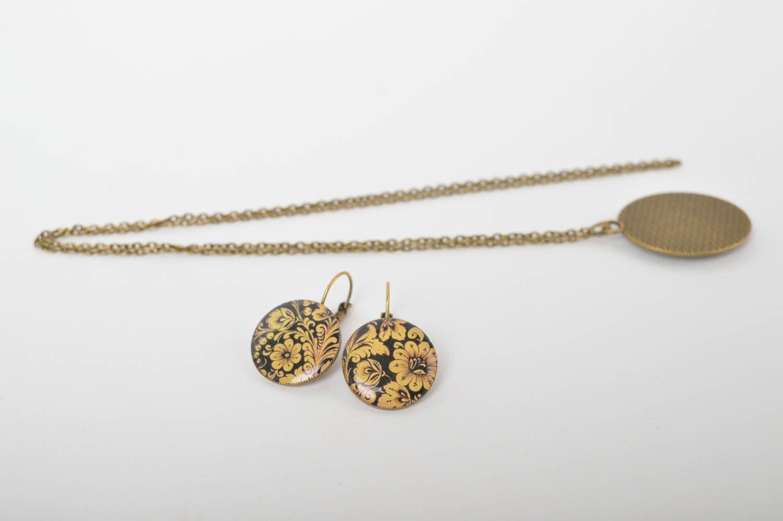 Handmade stylish jewelry set elite designer accessories elegant feminine present photo 5