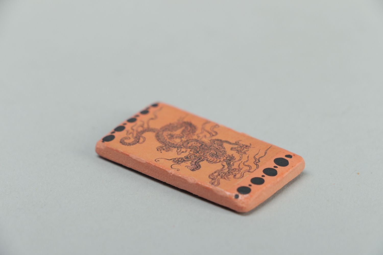 Polymer clay fridge magnet Dragon photo 2