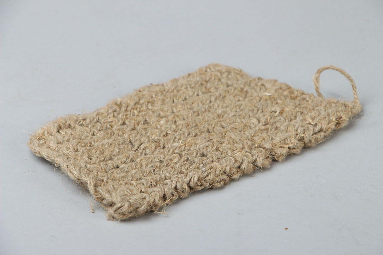 Madeheart gant de toilette en lin fait main - Gant de toilette exfoliant ...