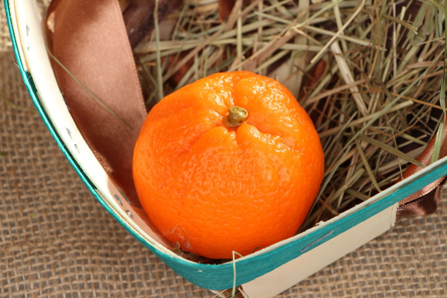 Beautiful soap in the shape of tangerine photo 4