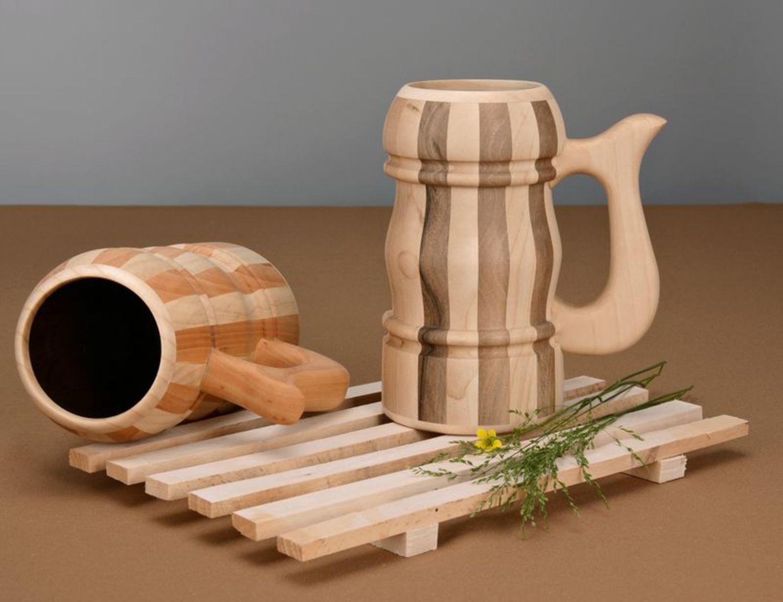 Как сделать деревянную кружку кружка из дерева Hand-made 163