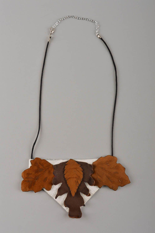 leather necklaces Leather stylish accessory designer beautiful necklace feminine necklace - MADEheart.com
