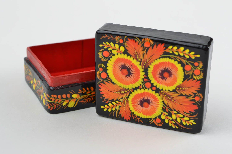 Bo Papier Mache Jewelry Box Handmade Painted For Home Decor Ideas Madeheart
