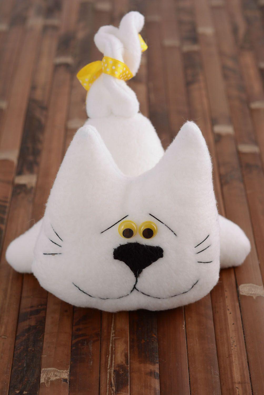 Soft fabric toy White Cat photo 5