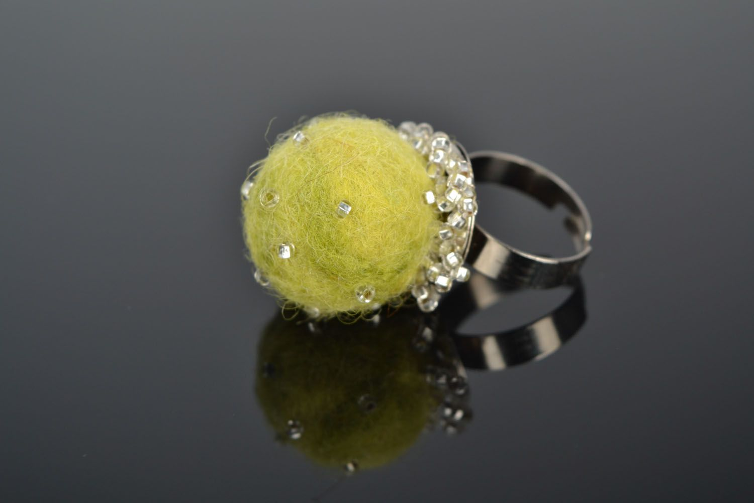 Felted wool ring photo 1