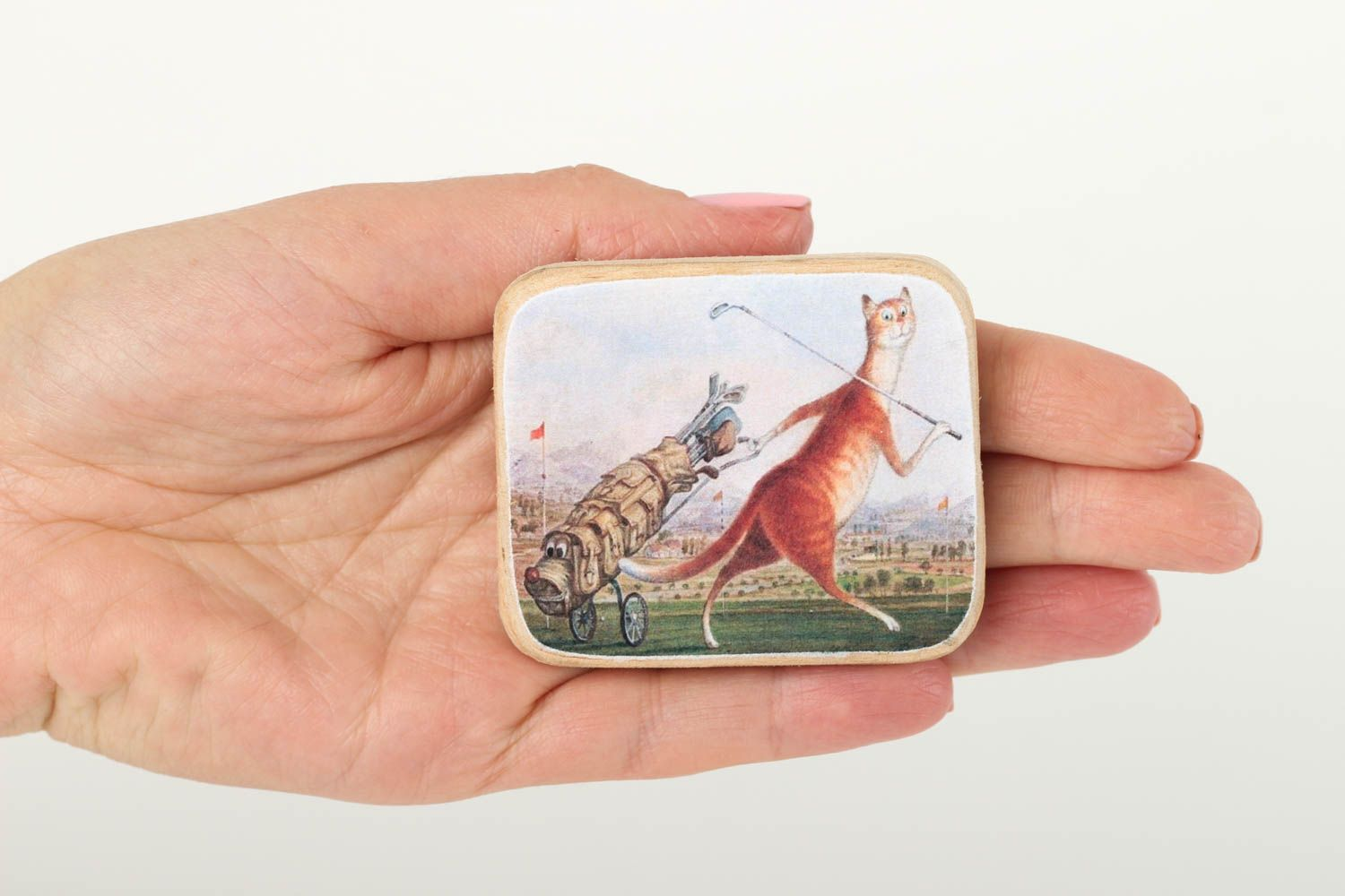 Handmade gifts wooden decor fridge magnet souvenir ideas for decorative use only photo 5