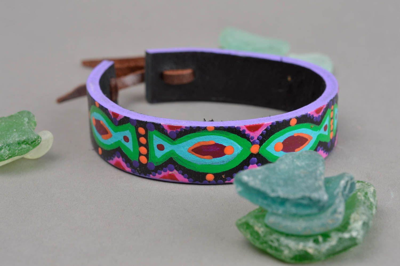 5ca54c94d8b1 pulseras de cuero Pulsera de cuero hecha a mano regalo original brazalete  artesanal y pintoresco -