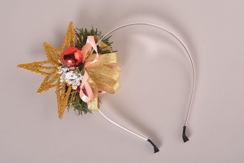 las diademas, coronas, bandas para el pelo Corona para el pelo de Navidad artesanal