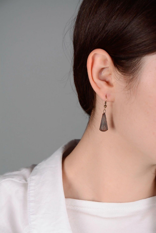 dangle earrings Red clay earrings - MADEheart.com