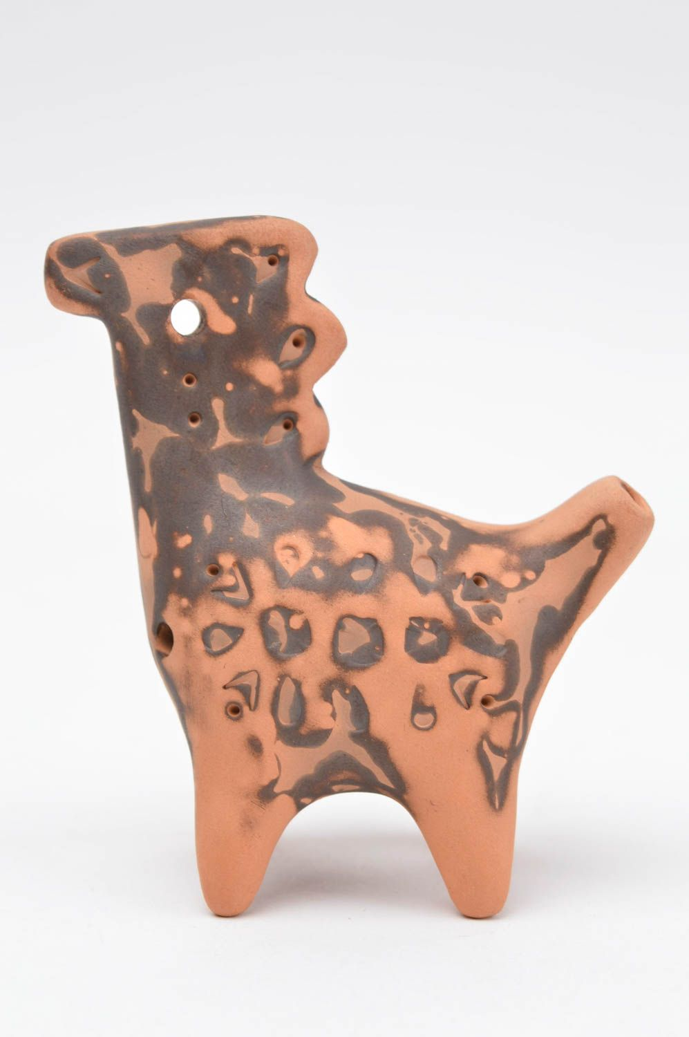 Handmade clay whistle ceramic whistle clay musical instruments clay figurine photo 2