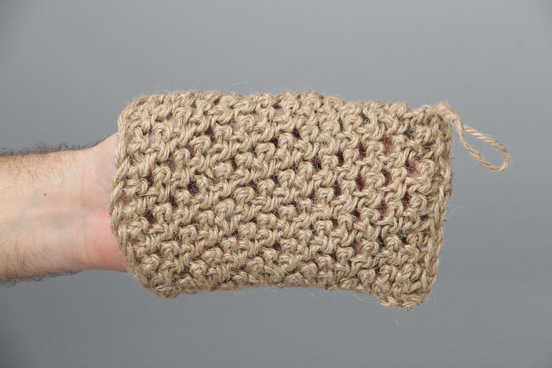 Hand crochet body scrubber  photo 4
