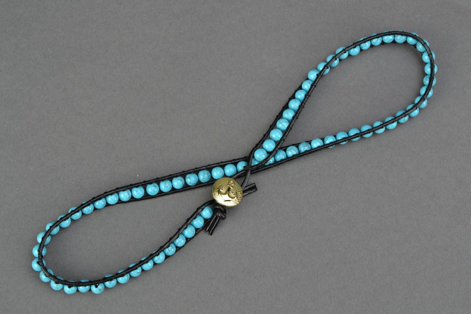 Natural turquoise bracelet photo 3
