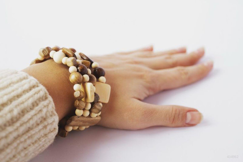 Wooden multi-row bracelet photo 5