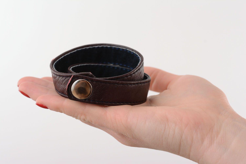Handmade leather bracelet photo 2