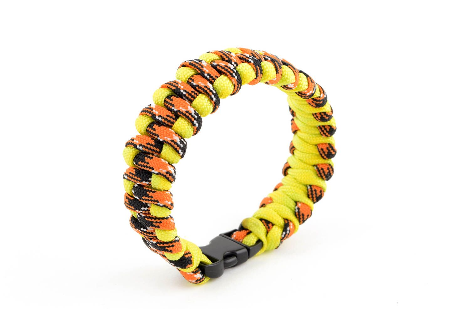 Handmade paracord bracelet parachute cord bracelet hiking equipment cool gifts photo 4