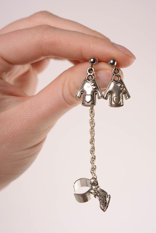 Metal cuff earrings Winter photo 4
