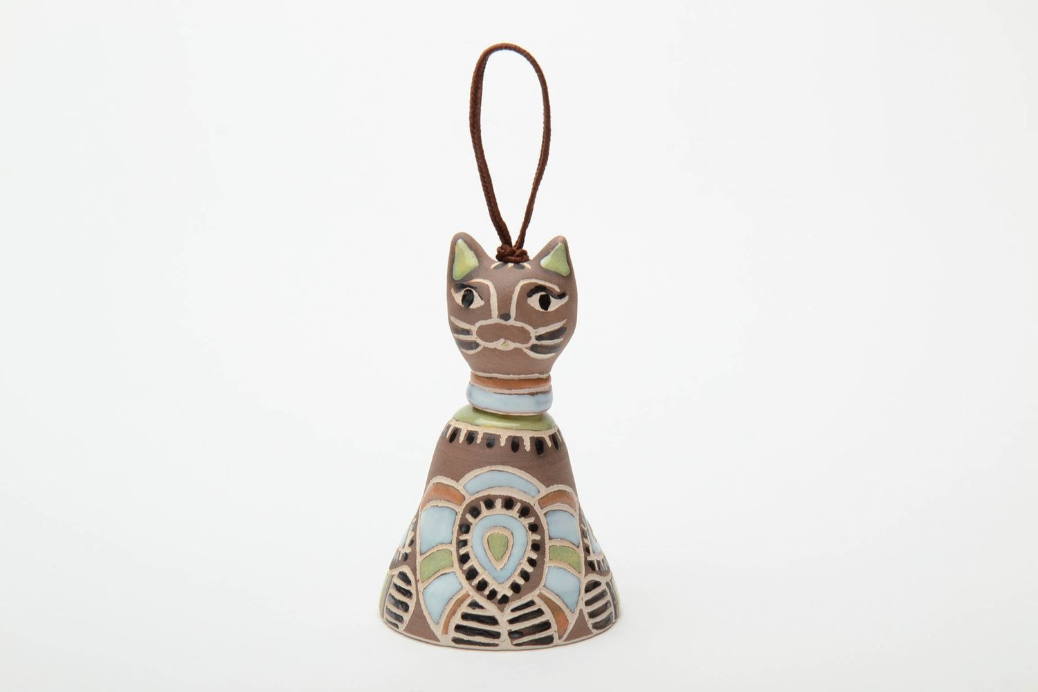 Ceramic bell in the shape of cat photo 2