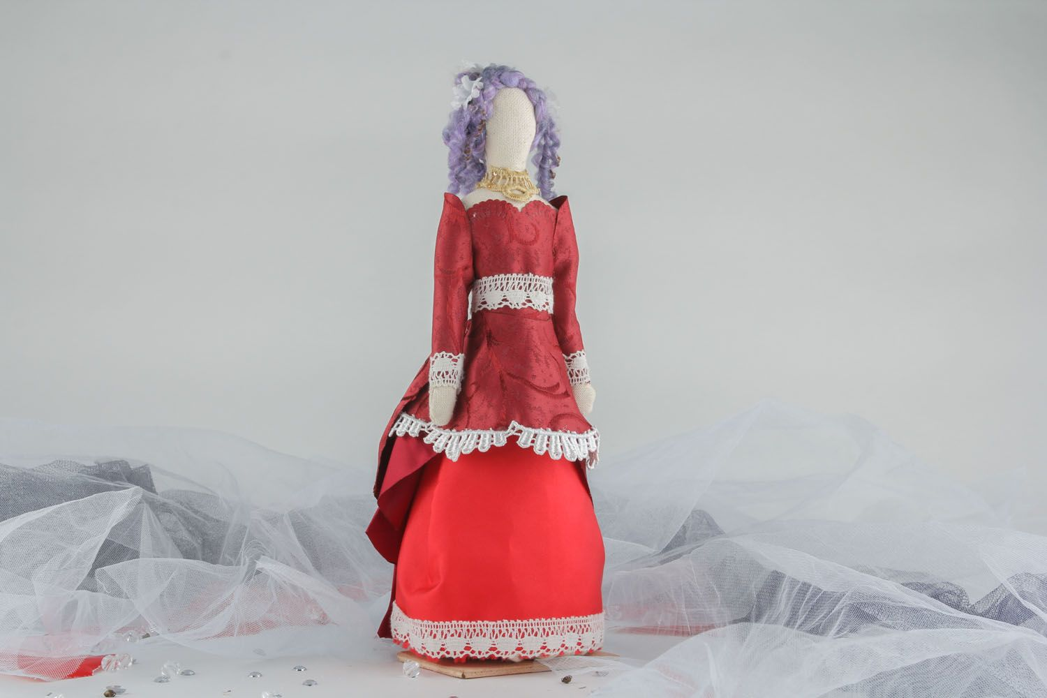 Doll in vintage dress photo 5