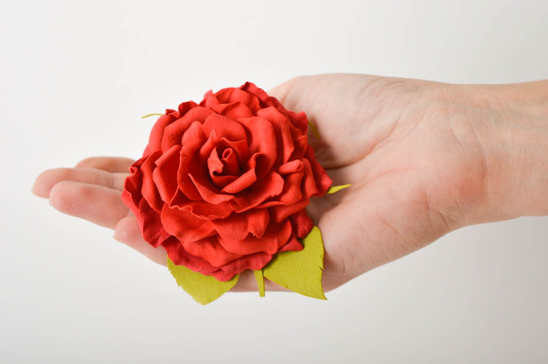 Kopfschmuck Blume handgefertigt Damen Modeschmuck effektvoll Haarspange Blume foto 9