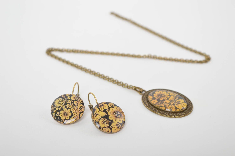 Handmade stylish jewelry set elite designer accessories elegant feminine present photo 2