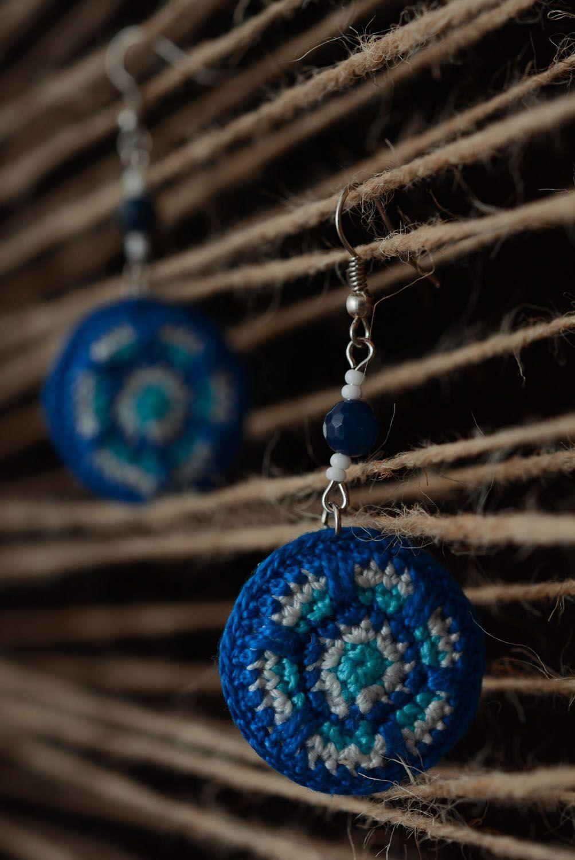 Stylish crochet earrings photo 3