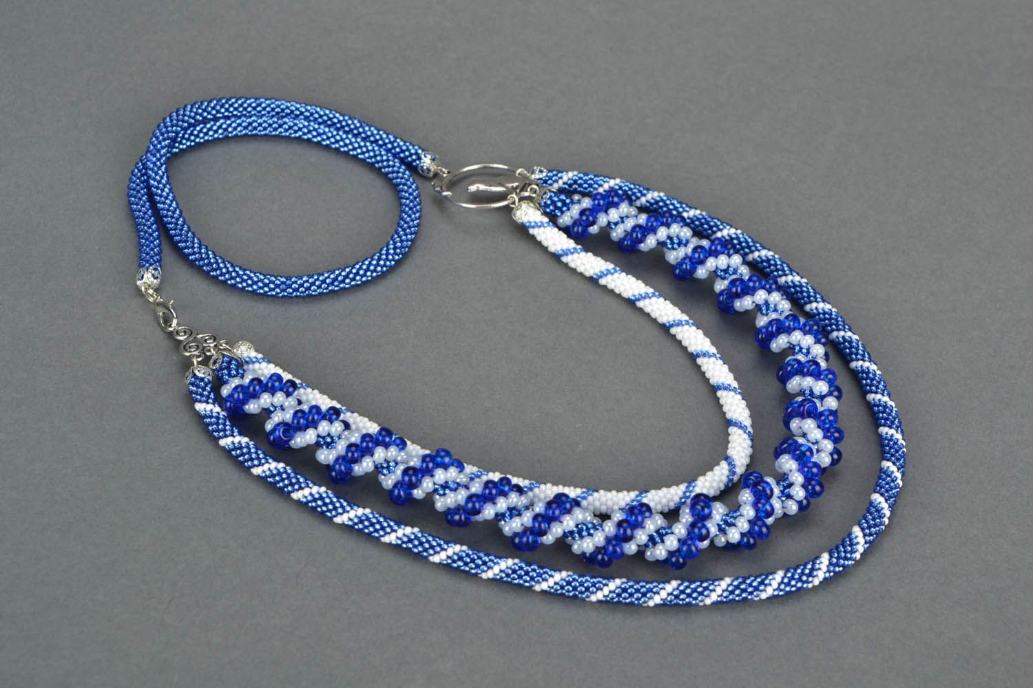 Beaded necklace Rime photo 3