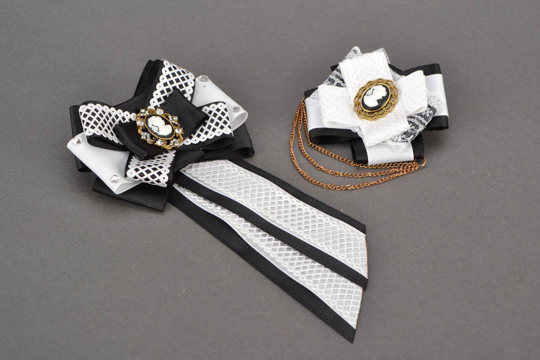 Haarklemmen-Set Brosche und Krawatte Eleganz foto 2