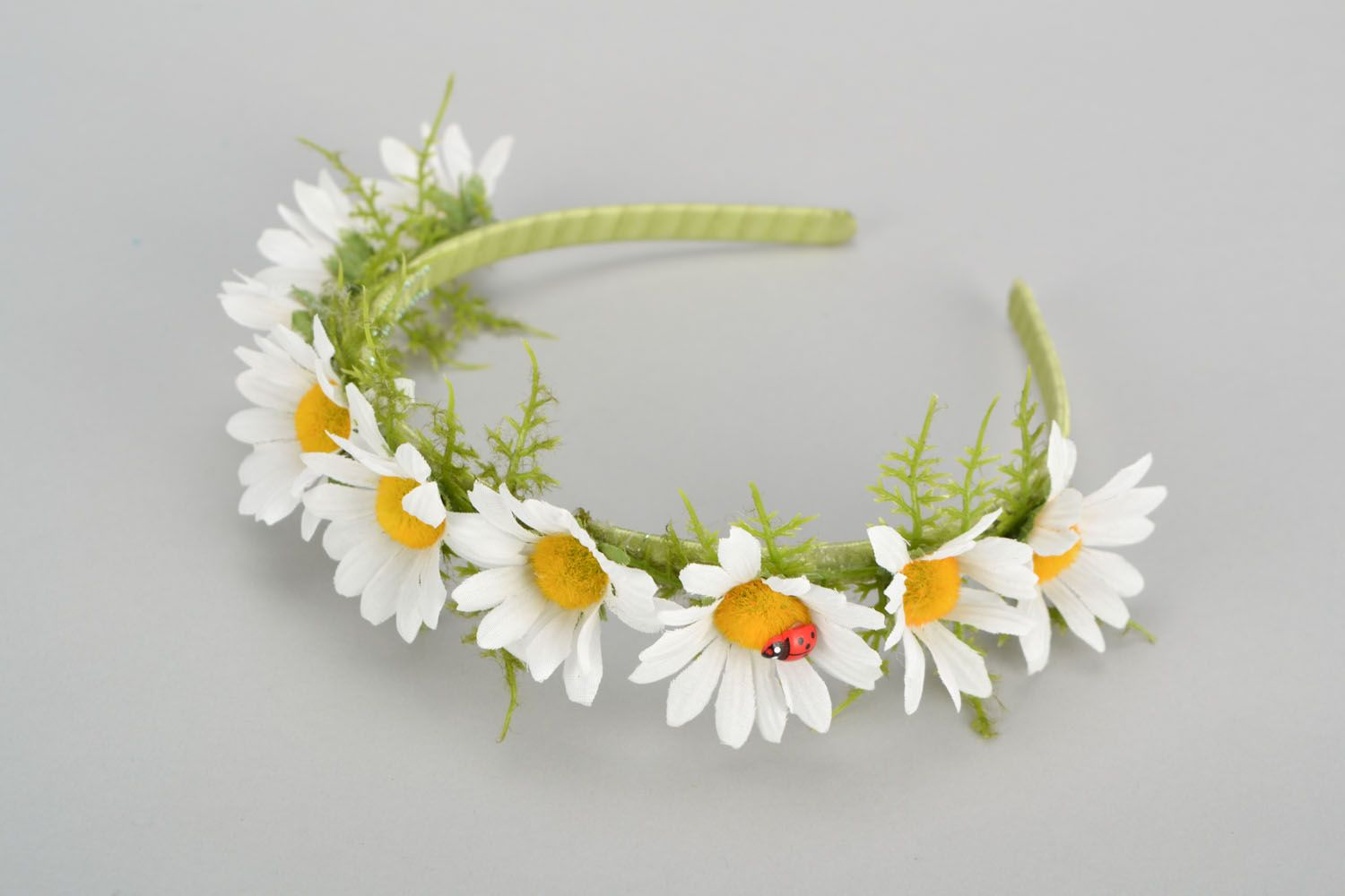 Handmade headband with flowers photo 5