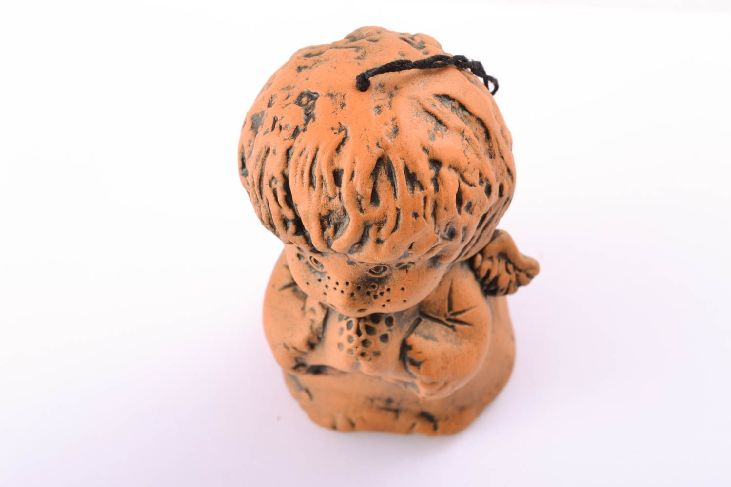 Handmade ceramic bell Boy photo 1