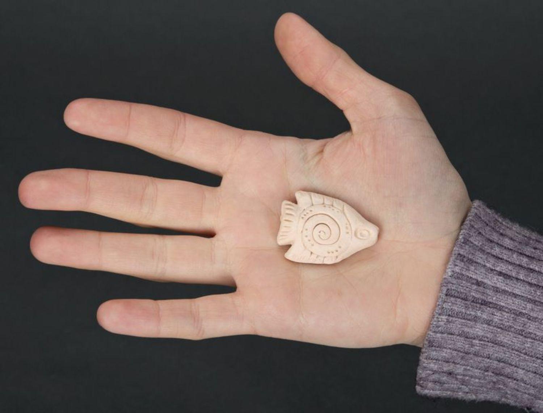 Керамический кулон Рыбка фото 5