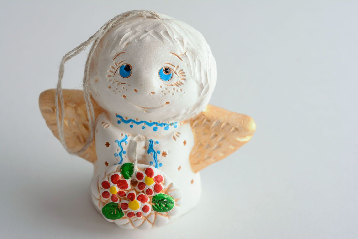 Homemade ceramic bell Angel photo 2