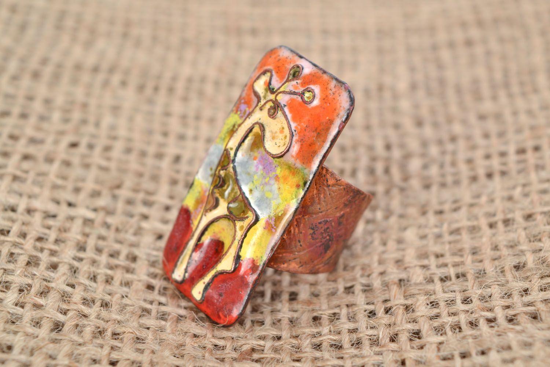 Copper ring Giraffe photo 1