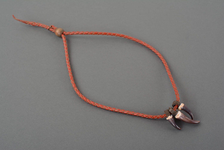 Leather pendant Hunter's Amulet photo 4