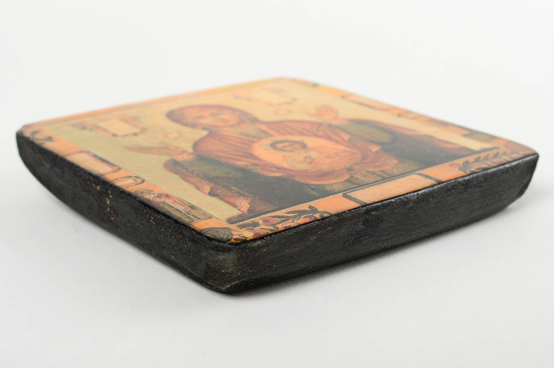 Handmade icon wooden icon of Mother of God designer icon orthodox icon photo 2
