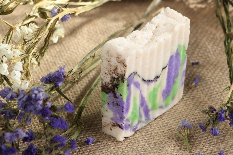 Organic handmade soap Coconut and greens photo 5