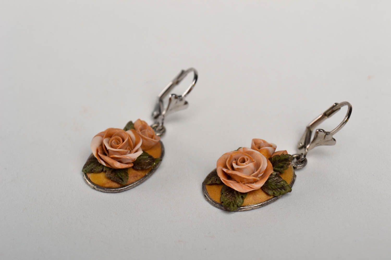Handmade stylish tender earrings elite bijouterie elegant beautiful earrings photo 2