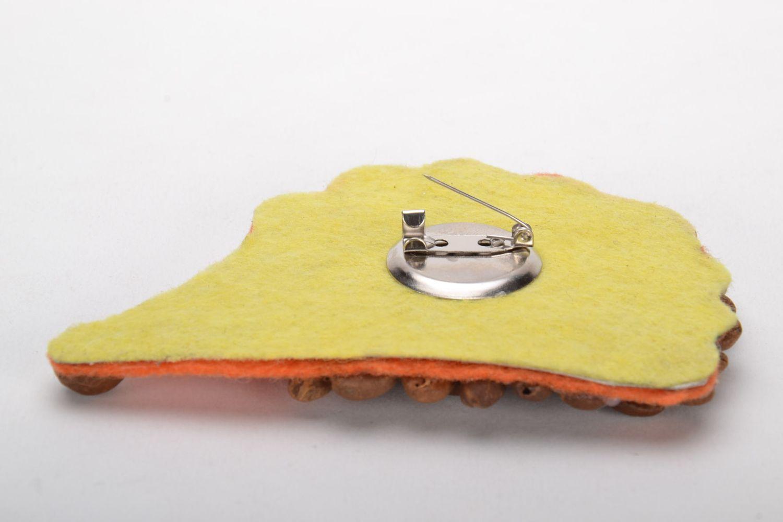 Designer brooch in the shape of hedgehog photo 3