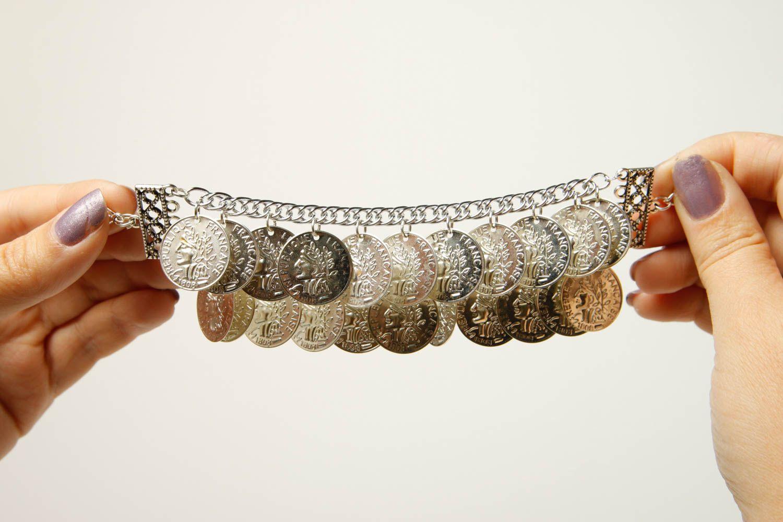 Metal bracelet handmade coin bracelet stylish jewelry fashion bracelet photo 2